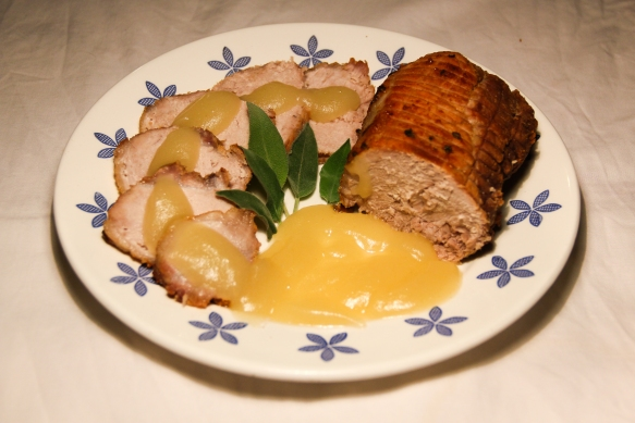 Arrosto di maiale con salsa di mele