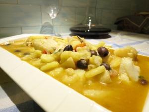 Baccalà in umido con patate e olive nere - Foto di Walter Romano