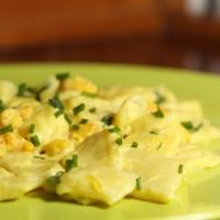 Gnocchetti di patate con gamberi in salsa di zafferano