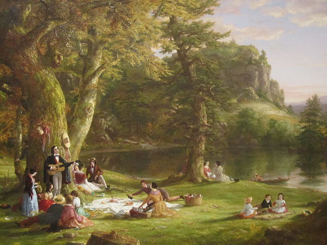 "The artist Thomas Cole depicted ""The Picnic"" prior to 1860"