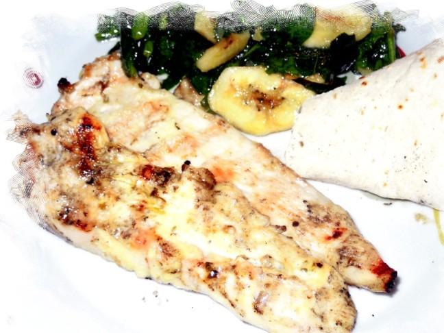 pollo e spinaci