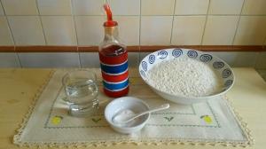 ingredienti per la sfoglia all'olio