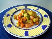 Macedonia di verdure al burro chiarificato e curcuma
