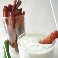 Carote al forno con salsa allo Yogurt