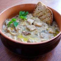 Zuppa di funghi porcini cremosa