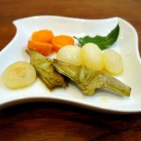 Verdure e cipolline borettane glassate al miele