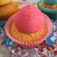 Cupcake vaniglia-limone con paintballs marshmallow