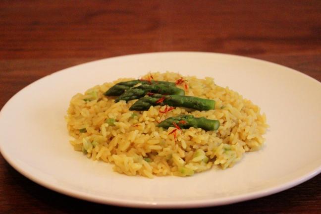 risotto zafferano asparagi