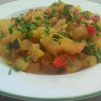 Zucchine e patate al funghetto